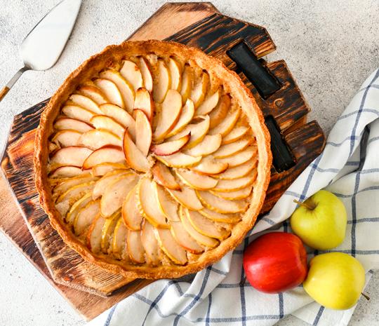 Ricetta con crostata mele e marmellata Molino Spadoni