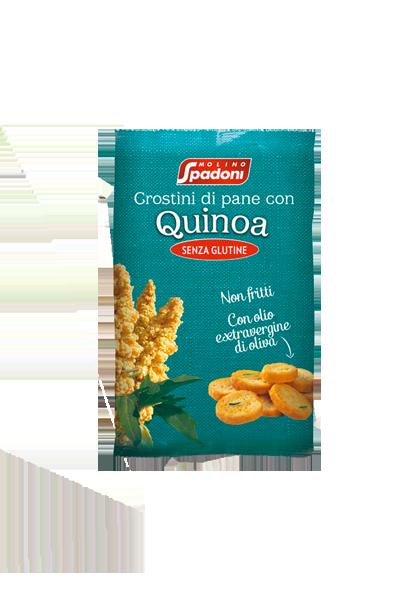 Gluten-free Bread Crostini with Quinoa