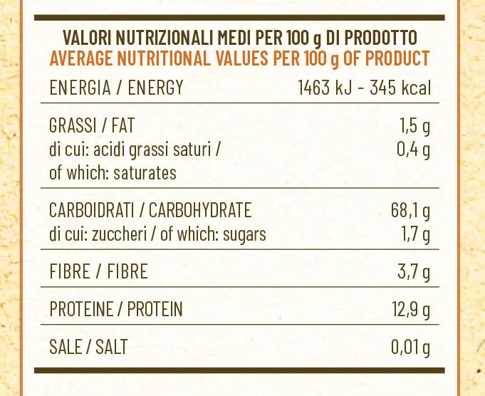 valori nutrizionali molino spadoni farina grani antichi