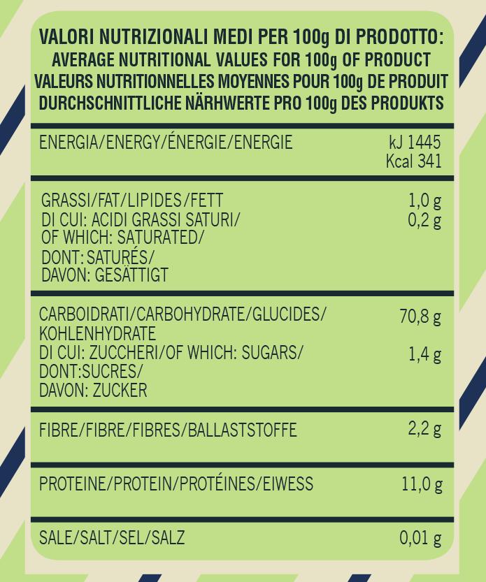Average-nutritional-Gran-Mugnaio-organic-flour-type-0