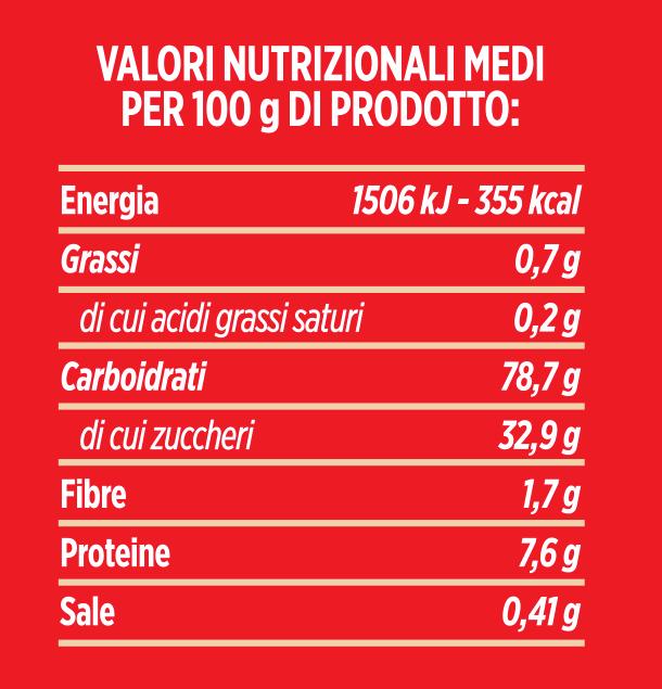 valori nutrizionali molino spadoni