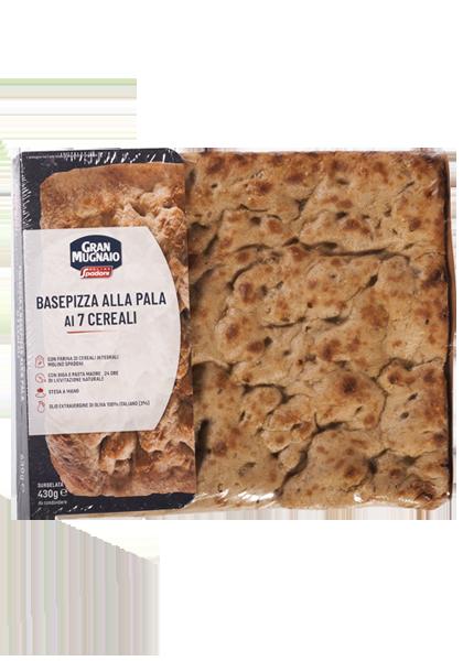 7-grain base for peel pizza