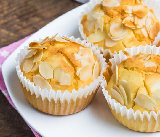 Ricette Muffin con Mandorle e arance Molino Spadoni