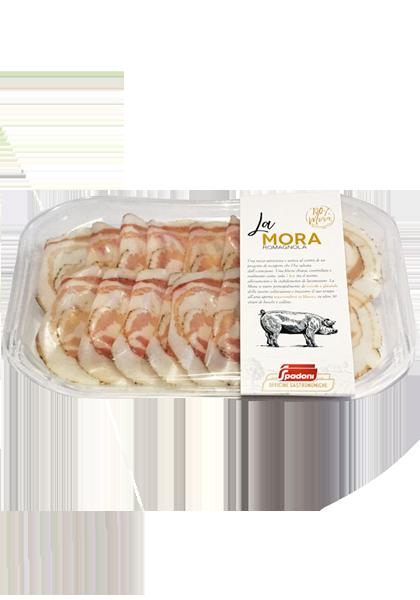 Pancetta arrotolata di Mora Romagnola Molino Spadoni