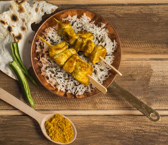 Ricetta pollo al curry in salsa al cocco Molino Spadoni