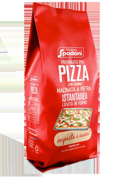 preparato per pizza istantanea spadoni