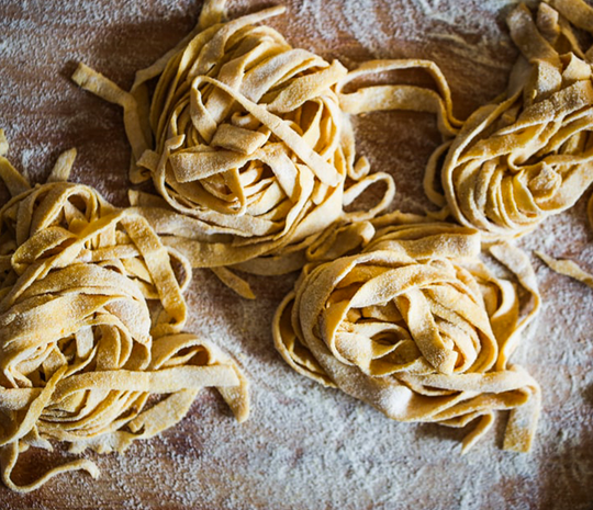 Eggless Tagliolini with Rustic Bean Sauce recipes