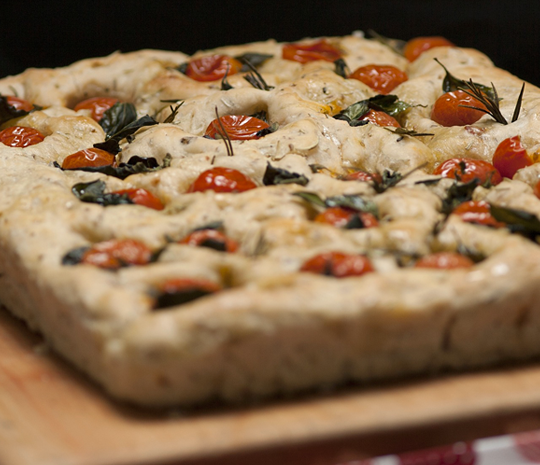 Squacquerone cheese focaccia recipes