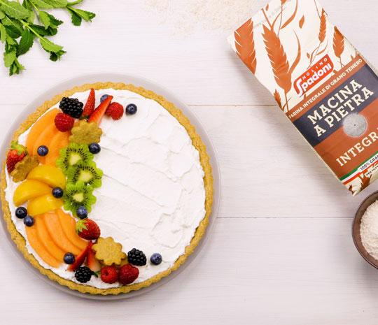 Crostata integrale con crema di ricotta al rosolio di cedro